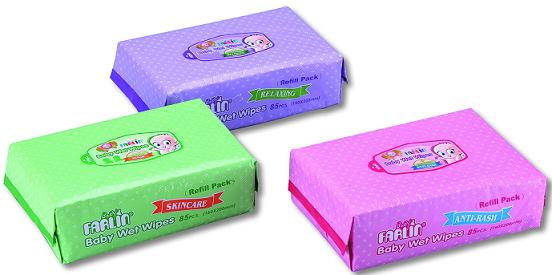 Baby wet wipes DT-006 8 5pcsX3 (refill)